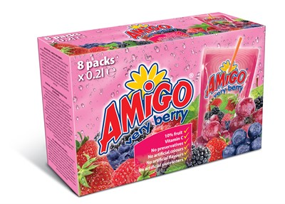 Amigo 8 pack box very berry